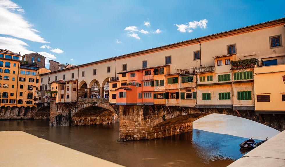 Ponte Vecchio bridge over the Arno River